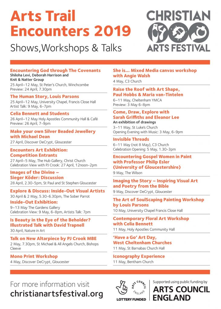 Arts Trail And Workshops Christian Arts Festival Christian Arts